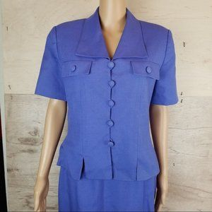 Le Suit Skirts - Le Suit Periwinkle Skirt Set with Matching Jacket